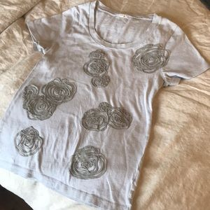 Embroidered t-shirt by J. Crew